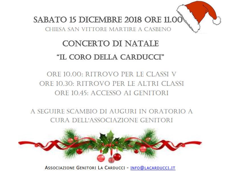 Concerto di Natale scuola Carducci Casbeno
