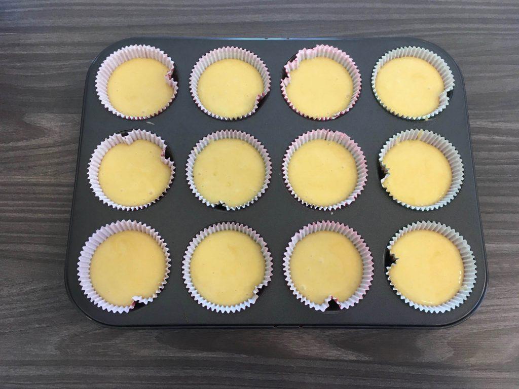 Lo stampo per muffin già pronto